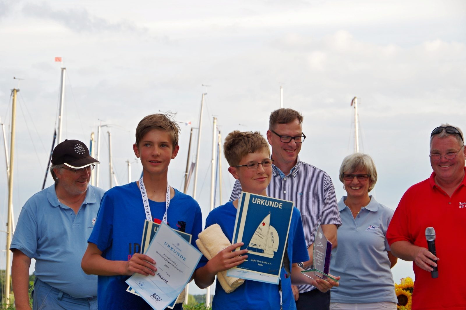 1. Platz GER 695, Erik und Lars Prescher - IDJüM 2016 im Teeny im SC Gothia e.V. in Berlin Spandau, 29. Juli 2016