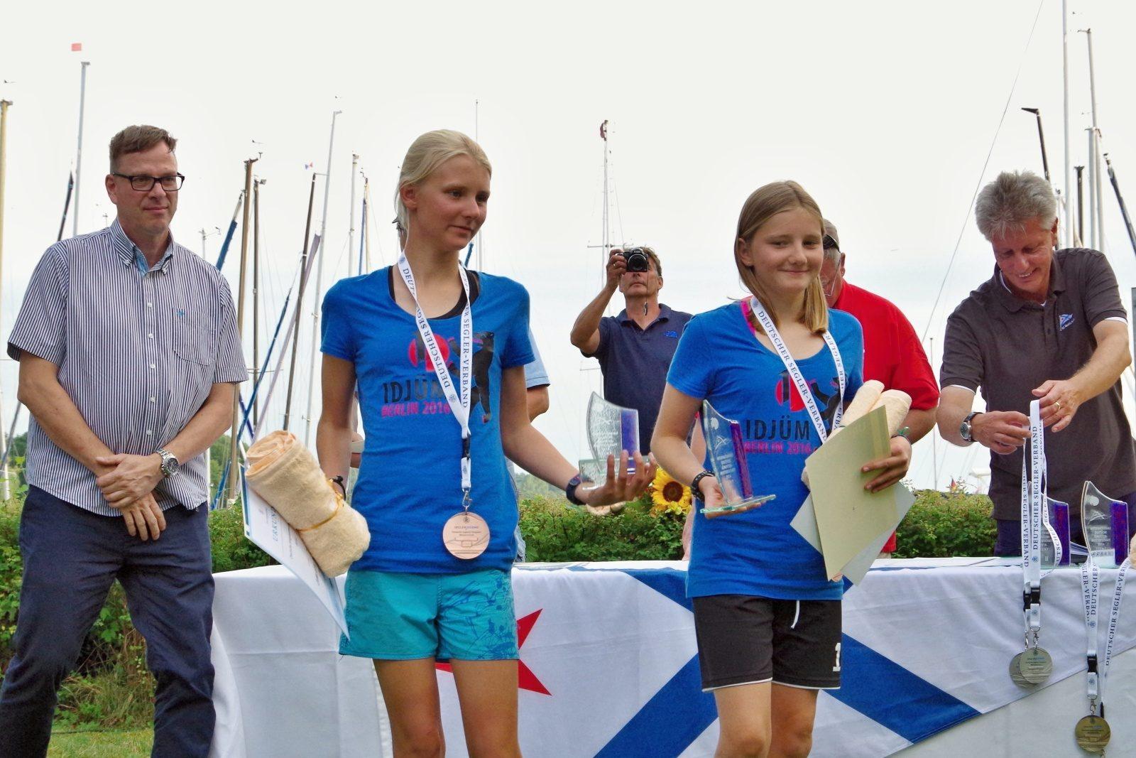 3. Platz GER 684: Charlotte Müldner, Josefine Henkel - IDJüM 2016 im Teeny im SC Gothia e.V. in Berlin Spandau, 29.Juli 2016